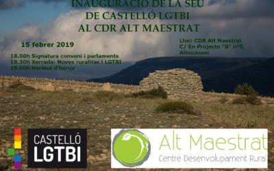 Castelló LGTBI inaugura sede en el Centre de Desenvolupament Rural Alt Maestrat de Albocàsser