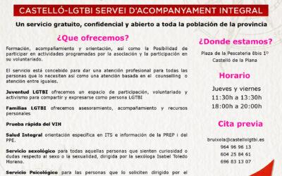 Castelló LGTBI presenta su servicio de atención y acompañamiento integral 'Bruixola de Colors' (Castellón Plaza)